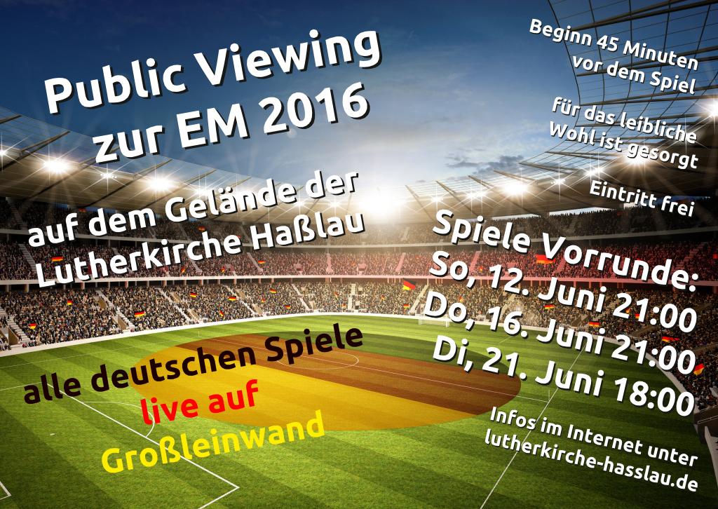 Public Viewing zur EM 2016